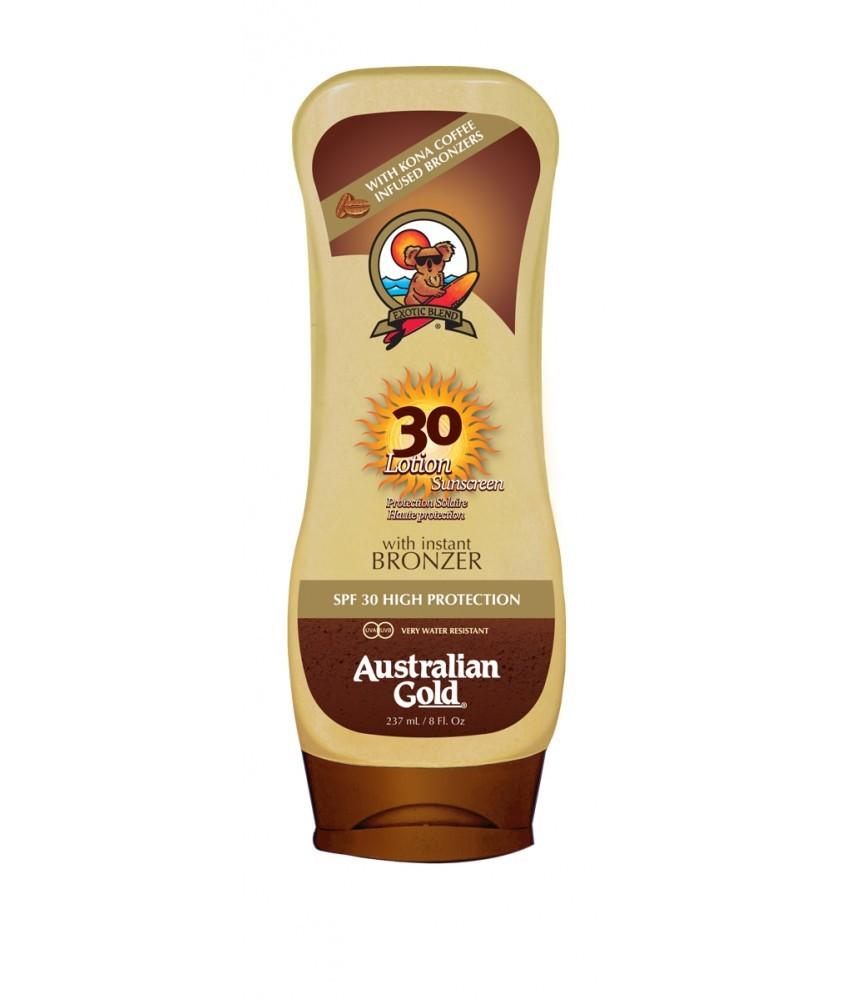 Crema Solar con bronceador SPF 30 Lotion Bronzer Australian Gold