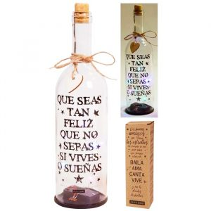 Botella con Luces Led y mensaje