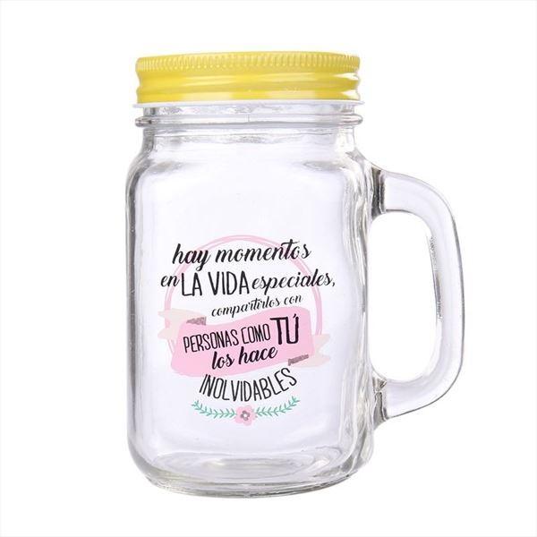 JARRA DE CRISTAL CON CAÑA MOMENTOS